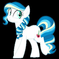 Size: 1024x1026   Tagged: safe, artist:azure-art-wave, oc, oc only, oc:ambrosia apple, offspring, parent:coloratura, parent:prince blueblood, simple background, solo, transparent background