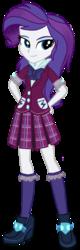 Size: 404x1270 | Tagged: safe, artist:tsundra, lemon zest, rarity, equestria girls, clothes, crystal prep academy uniform, female, school uniform, simple background, solo, transparent background