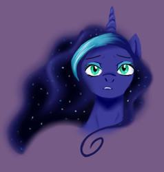 Size: 326x342 | Tagged: safe, artist:pixel-penguin-da, princess luna, colored, female, purple, purple background, simple background, solo