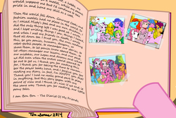 Size: 1500x1000 | Tagged: safe, artist:wolfram-and-hart, applejack (g1), bon bon (g1), bright eyes, cheerilee (g3), clover (g1), ember (g1), firefly, melody, pinkie pie (g3), rainbow dash (g3), scootaloo (g3), shady, skywishes, spike (g1), starlight (g1), starsong, surprise, sweetheart, sweetie belle (g3), toola roola, twilight twinkle, wind whistler, pony pov series, g1, g2, g3, my little pony 'n friends, my little pony tales, misty, selfie, text