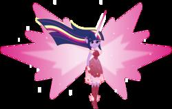 Size: 8628x5491   Tagged: safe, artist:orin331, twilight sparkle, equestria girls, absurd resolution, alternate universe, clothes, daydream shimmer, daydream sparkle, daydream-ified, dream sparkle, dress, elf ears, female, flash puppet, solo, twilight sparkle (alicorn)