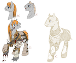 Size: 3000x2500 | Tagged: safe, artist:sourcherry, oc, oc only, oc:cookie dough jojo, fallout equestria, commission, raider, roleplaying