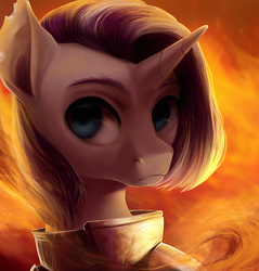 Size: 1031x1080 | Tagged: safe, artist:locksto, oc, oc only, pony, unicorn, armor, bust, portrait, solo