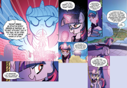 Size: 2032x1412 | Tagged: safe, idw, twilight sparkle, alicorn, pony, spoiler:comic, comic, evil grin, grin, smiling, twilight is anakin, twilight sparkle (alicorn), tyrant sparkle