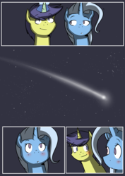 Size: 4961x6992 | Tagged: safe, artist:lrusu, comet tail, trixie, pony, unicorn, absurd resolution, cometrix, comic, female, male, mare, shipping, straight