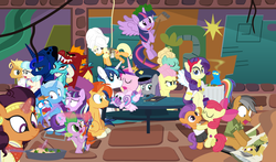 "Size: 1465x860 | Tagged: safe, artist:dm29, apple bloom, applejack, boulder (pet), coco pommel, daring do, fluttershy, garble, gourmand ramsay, maud pie, princess cadance, princess ember, princess flurry heart, princess luna, quibble pants, rainbow dash, rarity, saffron masala, shining armor, snowfall frost, spike, spirit of hearth's warming yet to come, starlight glimmer, sunburst, tender taps, trixie, twilight sparkle, zephyr breeze, alicorn, dragon, pony, a hearth's warming tail, applejack's ""day"" off, flutter brutter, gauntlet of fire, newbie dash, no second prances, on your marks, spice up your life, stranger than fan fiction, the crystalling, the gift of the maud pie, the saddle row review, angel rarity, backwards cutie mark, bathrobe, beach chair, bloodstone scepter, body pillow, broom, clothes, cold, couch, cracked armor, crossing the memes, cutie mark, dancing, devil rarity, dragon lord spike, emble, female, filly, first half of season 6, garble's hugs, gordon ramsay, handkerchief, hat, hearth's warming, hiatus, male, meme, menu, now you're thinking with portals, portal, present, rainbow trash, safety goggles, shipping, sick, straight, sweeping, sweepsweepsweep, the cmc's cutie marks, the meme continues, the story so far of season 6, this isn't even my final form, tissue, toolbelt, top hat, towel, trash can, twilight sparkle (alicorn), twilight sweeple, wall of tags, wonderbolts uniform"