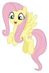 Size: 3000x4485 | Tagged: absurd res, artist:sollace, cute, flutter brutter, fluttershy, flying, happy, looking down, open mouth, pegasus, pony, safe, shyabetes, simple background, smiling, solo, spread wings, .svg available, transparent background, vector