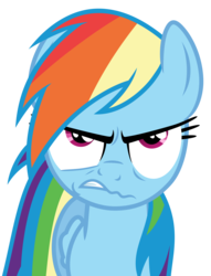Size: 3900x5100 | Tagged: safe, artist:reginault, rainbow dash, pegasus, pony, stranger than fan fiction, .svg available, annoyed, simple background, solo, transparent background, vector