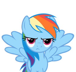 Size: 3000x2850 | Tagged: artist:vexorb, rainbow dash, safe, simple background, solo, transparent background, unamused, vector