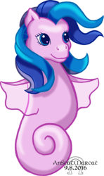 Size: 986x1668 | Tagged: safe, artist:anscathmarcach, oc, unnamed oc, crossover, g1, g1 to g3, g3, generation leap, sea ponies, simple background, transparent background