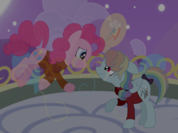 Size: 2592x1936 | Tagged: safe, artist:squipycheetah, pinkie pie, rainbow dash, ghost, ghost pony, pony, the count of monte rainbow, abbé faria, alternate color palette, alternate hair color, alternate hairstyle, alternate universe, balcony, balloon, bowtie, canterlot, clothes, cloud, crossover, crying, cute, edmond dantes, fading, female, floating, floppy ears, folded wings, freedom, friendshipping, hair tie, happy, hill, implied death, looking down, looking up, mare, moon, mountain, night, night sky, pinkie faria, prison outfit, rainbow dantes, raised hoof, reaching, reaching out, short tail, smiling, spirit, stars, suit, tail bow, teary eyes, the count of monte cristo, vector