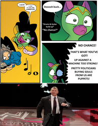 Size: 775x1000 | Tagged: cheerilee, cloverleaf, discussion in the comments, mcmahon power walking, no chance in hell, power walk, safe, spoiler:comic, spoiler:comic29, surprise entrance meme, vince mcmahon, wwe