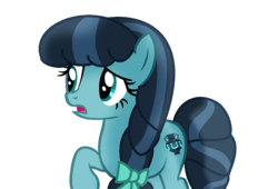 Size: 900x613 | Tagged: artist:t-mack56, base, base used, bow, briar crystal, changeling, crystal hoof, disguise, disguised changeling, female, hair bow, mare, mesosoma, open mouth, pony, raised hoof, rule 63, safe, simple background, solo, the times they are a changeling, thorax, transparent background