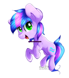 Size: 626x704 | Tagged: safe, artist:agletka, oc, oc only, oc:trilly taffy, chibi, simple background, solo, transparent background