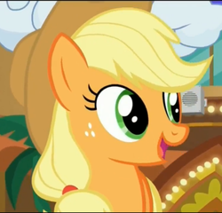 Size: 1497x1439 | Tagged: applejack, cute, earth pony, female, happy, jackabetes, mare, open mouth, pony, safe, screencap, smiling, solo focus, viva las pegasus