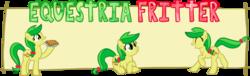 Size: 993x300   Tagged: safe, artist:anjevalart, apple fritter, apple family member, apple fritter (food), food, solo, text