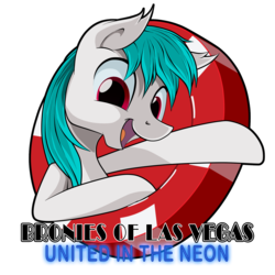 Size: 2000x2000 | Tagged: safe, artist:ruhisu, earth pony, pony, commission, las vegas, logo, male, part of a set, stallion