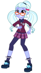 Size: 3026x5300 | Tagged: safe, artist:remcmaximus, sugarcoat, equestria girls, friendship games, absurd resolution, clothes, crystal prep academy, crystal prep academy uniform, crystal prep shadowbolts, glasses, necktie, pleated skirt, scared, school uniform, simple background, skirt, solo, transparent background, vector