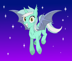 Size: 1965x1668 | Tagged: alicorn, alicornified, artist:horsesass, bat ponified, bat pony, bat pony alicorn, irrational exuberance, lyracorn, lyra heartstrings, night, pony, race swap, safe, smiling, solo