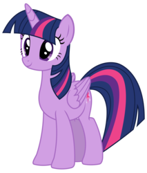 Size: 2428x2844 | Tagged: safe, artist:sketchmcreations, twilight sparkle, alicorn, pony, every little thing she does, cute, female, folded wings, happy, mare, simple background, solo, transparent background, twiabetes, twilight sparkle (alicorn), vector