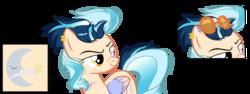 Size: 1023x383   Tagged: safe, artist:flurrypastels-mlp, oc, pony, cutie mark, female, magical lesbian spawn, mare, offspring, parent:indigo zap, parent:sugarcoat, parents:sugarzap, shipping