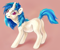 Size: 1176x980 | Tagged: safe, artist:theray, dj pon-3, vinyl scratch, cute, missing cutie mark, solo