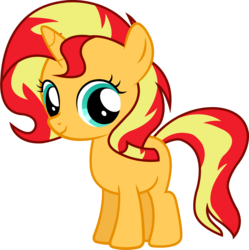 Size: 3333x3344 | Tagged: artist:nsmah, cute, equestria girls, filly, filly sunset, happy, looking at you, pony, safe, shimmerbetes, simple background, smiling, solo, sunset shimmer, transparent background, vector