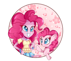 Size: 1280x1097 | Tagged: safe, artist:vixelzf, pinkie pie, equestria girls, clothes, cute, diapinkes, female, happy, human ponidox, pleated skirt, skirt, solo