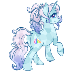 Size: 1966x1966 | Tagged: artist:floots, crystal pony, oc, oc only, oc:prism, pony, safe, simple background, transparent background, unicorn
