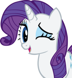 Size: 10926x11781 | Tagged: safe, artist:cyanlightning, rarity, absurd resolution, cute, female, one eye closed, open mouth, raribetes, simple background, solo, transparent background, vector, wink