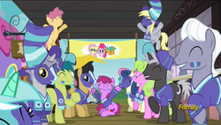 Size: 1920x1080 | Tagged: safe, screencap, berry punch, berryshine, bon bon, daisy, derpy hooves, flower wishes, fluttershy, lyra heartstrings, pinkie pie, snails, sweetie drops, pegasus, pony, unicorn, buckball season, berrybetes, colt, female, male, mare