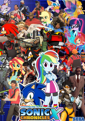 Size: 705x999 | Tagged: artist:trungtranhaitrung, bayonetta 2, blaze the cat, crossover, dmc, downvote bait, e-123 omega, equestria girls, knuckles the echidna, logo, miraculous ladybug, overwatch, rainbow dash, rouge the bat, safe, sega, shadow the hedgehog, sonic chronicles x, sonic the hedgehog, sonic the hedgehog (series), sunset shimmer, team fortress 2, winx club