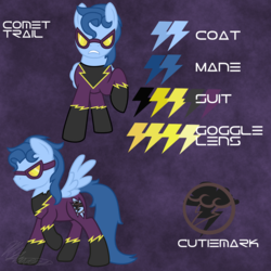 Size: 2000x2000   Tagged: safe, artist:hoodwinkedtales, oc, oc only, oc:comet trail, fallout equestria, fallout equestria: relics of the past, goggles, reference sheet, solo