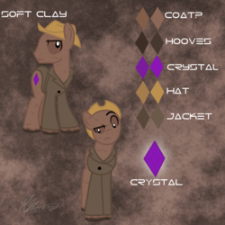 Size: 2000x2000   Tagged: safe, artist:hoodwinkedtales, oc, oc only, oc:soft clay, fallout equestria, fallout equestria: relics of the past, reference sheet, solo