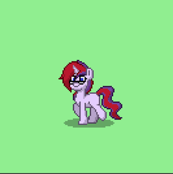 Size: 399x401 | Tagged: blank flank, glasses, magical lesbian spawn, oc, oc:celestial velvet, oc only, offspring, parent:sci-twi, parents:scitwishimmer, parents:sunsetsparkle, parent:sunset shimmer, parent:twilight sparkle, pixel art, pony town, safe, solo