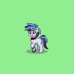Size: 397x397 | Tagged: safe, oc, oc only, oc:elegy, pony town, blank flank, magical lesbian spawn, offspring, parent:aria blaze, parent:sonata dusk, parents:arisona, pixel art, ponified, solo