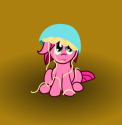 Size: 3293x3377 | Tagged: artist:brightstarclick, eating, female, filly, food, oc, oc only, oc:rose, pasta, safe, solo, spaghetti