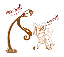 Size: 1400x1250 | Tagged: safe, artist:lunarmarshmallow, derpibooru exclusive, the lone lampman, :3, blushing, cute, heart eyes, lamppost, looking up, lupe (neopets), meta, monochrome, neopets, open mouth, simple background, smiling, tail wag, white background, wingding eyes