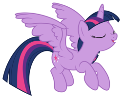 Size: 4944x4000 | Tagged: safe, artist:djdavid98, twilight sparkle, alicorn, pony, testing testing 1-2-3, .ai available, .svg available, eyes closed, female, flying, mare, simple background, solo, spread wings, transparent background, twilight sparkle (alicorn), vector, wings