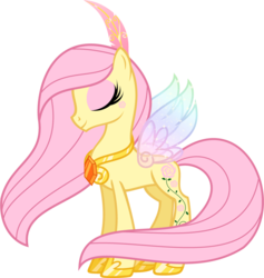 Size: 3542x3730 | Tagged: safe, artist:vanillachama, rosedust, flutter pony, g1, feather, female, g1 to g4, generation leap, jewelry, peytral, queen rosedust