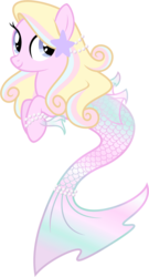 Size: 2291x4253 | Tagged: safe, artist:vanillachama, oc, oc only, mermaid, merpony, sea pony, bracelet, female, jewelry, mare, pearl, simple background, smiling, transparent background