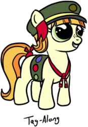 Size: 184x265 | Tagged: safe, artist:aa, edit, tag-a-long, earth pony, pony, charity, cropped, filly guides, freckles, smiling, solo, thin mint