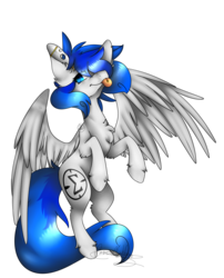 Size: 2053x2543 | Tagged: safe, artist:crimsonnight888, oc, oc only, oc:sapphire sights, pegasus, pony, eyebrow piercing, flying, gauges, piercing, simple background, solo, tongue out, tongue piercing, transparent background