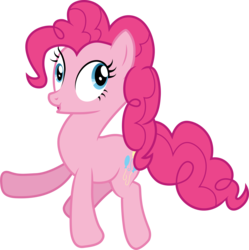 Size: 3001x3018 | Tagged: safe, artist:cloudyglow, pinkie pie, earth pony, pony, testing testing 1-2-3, .ai available, derp, female, mare, open mouth, simple background, solo, transparent background, vector