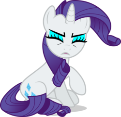 Size: 7000x6809 | Tagged: safe, artist:luckreza8, rarity, to where and back again, .svg available, absurd resolution, eyes closed, eyeshadow, female, makeup, raised hoof, simple background, sitting, solo, transparent background, vector
