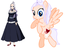Size: 750x552 | Tagged: artist:pawsofponies, cute, cutie mark, fairy tail, flying, mirajane strauss, ponified, safe, simple background, smiling, solo, spread wings, white background