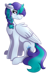 Size: 1205x1800   Tagged: safe, artist:kikirdcz, oc, oc only, pegasus, pony, braid, female, mare, simple background, solo, transparent background