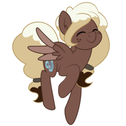Size: 6667x6667 | Tagged: absurd res, artist:besttubahorse, artist:melodicmarzipan, cute, cutie mark, edit, eyes closed, flying, freckles, happy, mochabetes, oc, oc only, oc:sweet mocha, pegasus, pony, prancing, safe, simple background, smiling, solo, spread wings, transparent background, vector