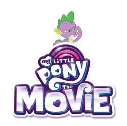 Size: 4000x3958 | Tagged: safe, artist:fureox, edit, spike, dragon, my little pony: the movie, logo, meme, simple background, solo, spikelove, white background