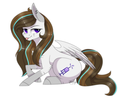 Size: 2520x1963 | Tagged: artist:ohhoneybee, female, mare, oc, oc:indigo dash, oc only, pegasus, pony, safe, simple background, solo, tongue out, transparent background